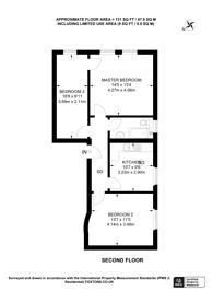Large floorplan for Charleville Road, Barons Court, W14