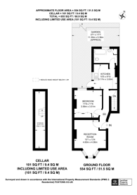 Large floorplan for Lebanon Gardens, Wandsworth, SW18
