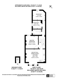 Large floorplan for Harewood Road, Colliers Wood, SW19