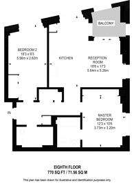 Large floorplan for Ponton Road, Nine Elms, SW11