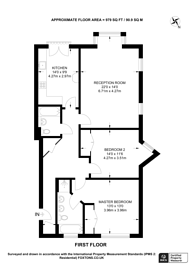 Large floorplan for The Avenue, Hatch End, HA5