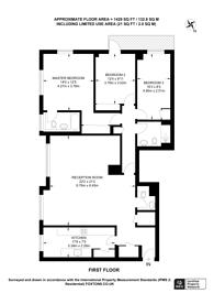 Large floorplan for George Street, Marylebone, W1H