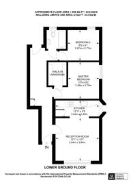 Large floorplan for Overhill Road, East Dulwich, SE22