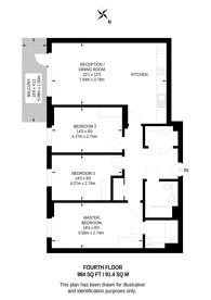 Large floorplan for Eastman Village, Harrow, HA1