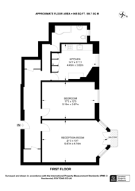 Large floorplan for Welbeck Mansions, West Hampstead, NW6