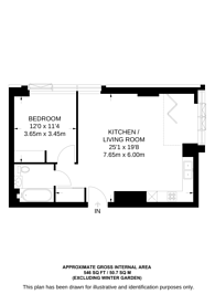 Large floorplan for Long Street, Shoreditch, E2