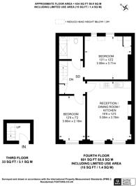 Large floorplan for Beaufort Gardens, Knightsbridge, SW3