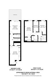 Large floorplan for Nelson Walk, Bow, E3