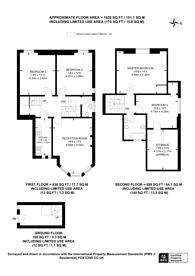 Large floorplan for Kirkstall Road, Telford Park, SW2