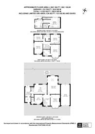 Large floorplan for The Avenue, Worcester Park, KT4