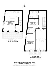 Large floorplan for Rufford Street, King's Cross, N1