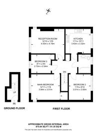 Large floorplan for Elmwood Court, Sudbury, HA0
