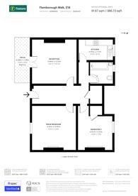 Large floorplan for Flamborough Road, Limehouse, E14