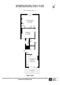 Large floorplan for New Kings Road, Parsons Green, SW6