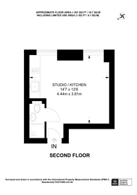 Large floorplan for Guilford Street, Bloomsbury, WC1N