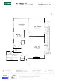 Large floorplan for Elm Park Road, Pinner, HA5