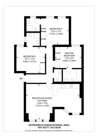 Large floorplan for Hamlet Gardens, Ravenscourt Park, W6