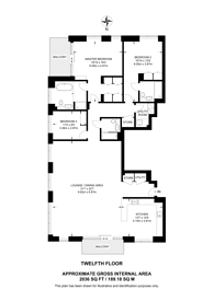 Large floorplan for Prince of Wales Drive, Vauxhall, SW8