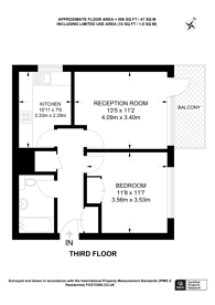 Large floorplan for Palace Road, Streatham Hill, SW2