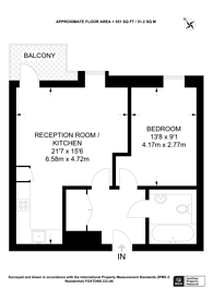 Large floorplan for Maple Quays, Canada Water, SE16