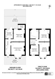 Large floorplan for Glenfarg Road, Catford, SE6
