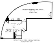 Large floorplan for Fairmont Avenue, Isle Of Dogs, E14