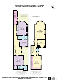 Large floorplan for Linden Gardens, Notting Hill, W2
