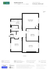 Large floorplan for Headlam Street, Bethnal Green, E1