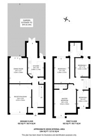 Large floorplan for Temple Gardens, Temple Fortune, NW11