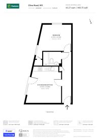 Large floorplan for Cline Road, N11, Bounds Green, N11