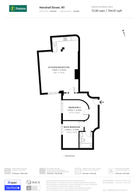 Large floorplan for Henshall Street, East Canonbury, N1