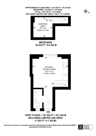 Large floorplan for Cleveland Gardens, Queensway, W2
