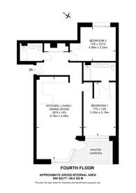 Large floorplan for London Square Bermondsey, Bermondsey, SE1