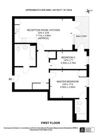 Large floorplan for Crondall Street, Hackney, N1
