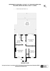 Large floorplan for Errol Gardens, New Malden, KT3