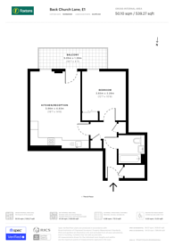 Large floorplan for Back Church Lane, Aldgate, E1