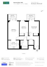 Large floorplan for Gaumont Place, Streatham Hill, SW2