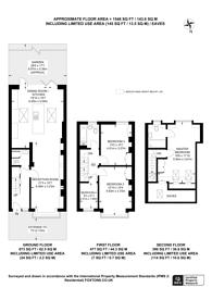 Large floorplan for Hambledon Road, Southfields, SW18