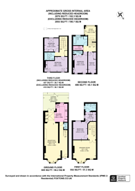 Large floorplan for Oxberry Avenue, Bishop's Park, SW6