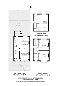 Large floorplan for Woolstone Road, Forest Hill, SE23