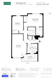 Large floorplan for Stewart Street, Canary Wharf, E14