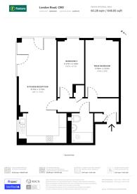Large floorplan for London Road, Central Croydon, CR0