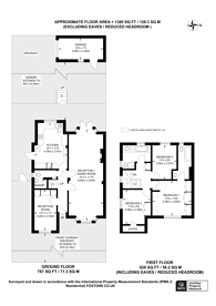 Large floorplan for Hill Rise, Hampstead Garden Suburb, NW11