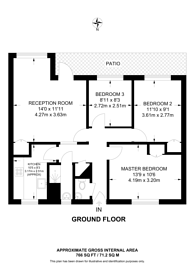 Large floorplan for Ellen Street, Whitechapel, E1
