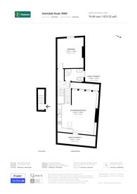 Large floorplan for Holmdale Road, West Hampstead, NW6