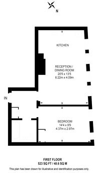 Large floorplan for Whitacre Mews, Kennington, SE11