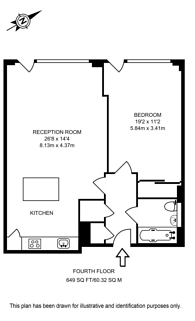 Large floorplan for Grosvenor Waterside, Pimlico, SW1W