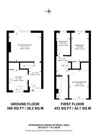 Large floorplan for St Marys Road, Peckham, SE15
