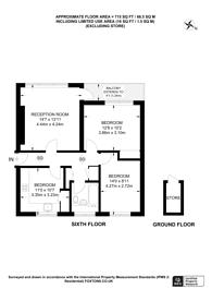 Large floorplan for Priory Road, Upton Park, E6