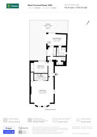 Large floorplan for West Cromwell Road, Kensington, SW5